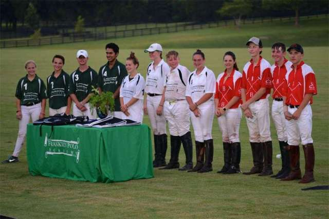 Nashville Polo Club NYTS Qualifier group - (L to R) Summer Kneece, Aiden Meeker, Max Weiser, Emmanuel Huerta, Caroline Mooney, Grace Butler, Jacob Waller, Gracie Brown, Madelyn Porter, Will Smith, Zach Wallace, Ry Koopman.