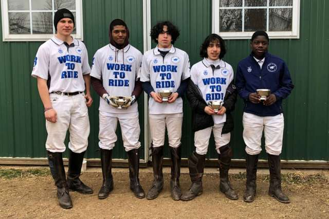 Southeastern Interscholastic Open Regional Winners: Work to Ride - John Womble, Justin Hall, Esteban Penados, Julian Penados, Mosiah Gravesande.