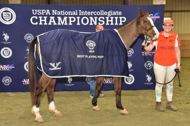Women's Best Playing Pony Galleta with UVA's Demitra Hajimihalis