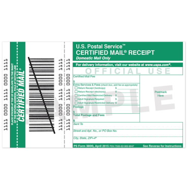 Schedule Usps Pickup Uspsr Usps Package Interceptr Certified Mail Receipt