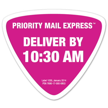 Priority Mail Express Delivery by 1030 Label USPS - label