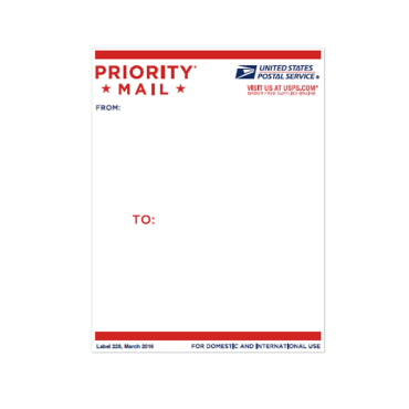Priority Mail Address Label USPS
