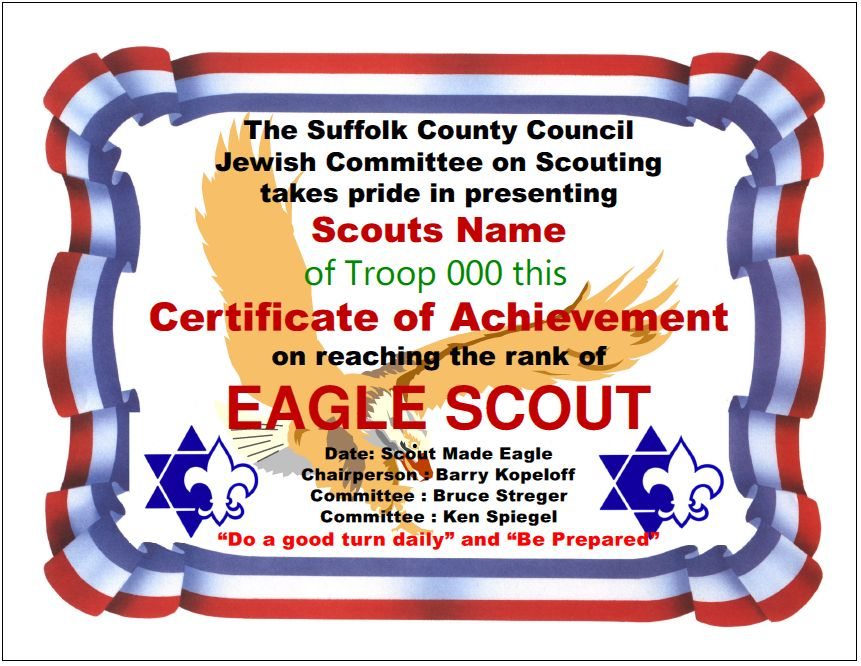 eagle scout certificate template - 28 images - eagle scout award - donation certificate template