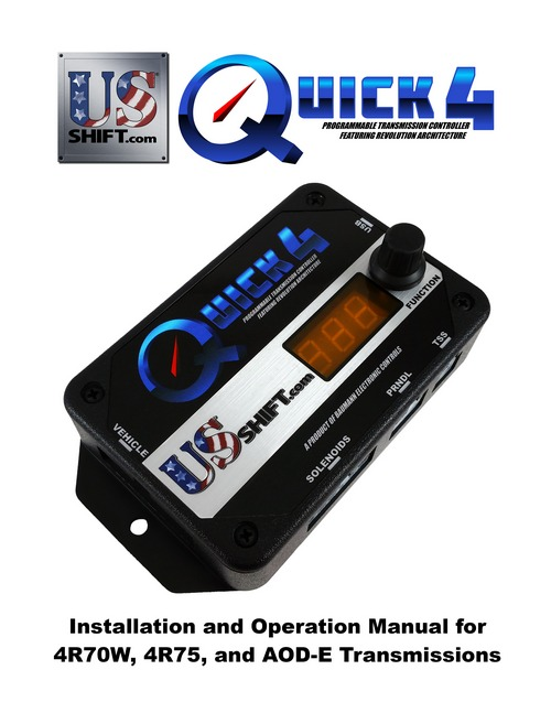 Quick 4 Stand-Alone Transmission Control