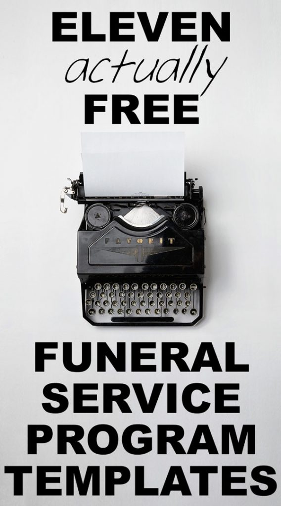Our Favorite (Actually!) Free Funeral Program Templates » Urns Online - free template for funeral program