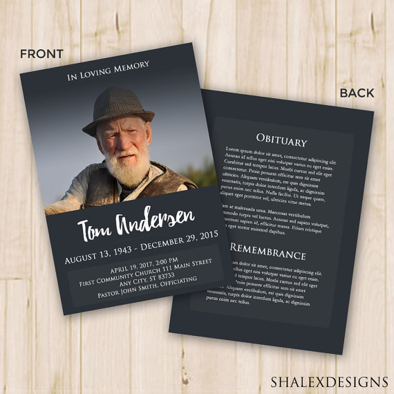 Our Favorite (Actually!) Free Funeral Program Templates » Urns Online - funeral poster templates
