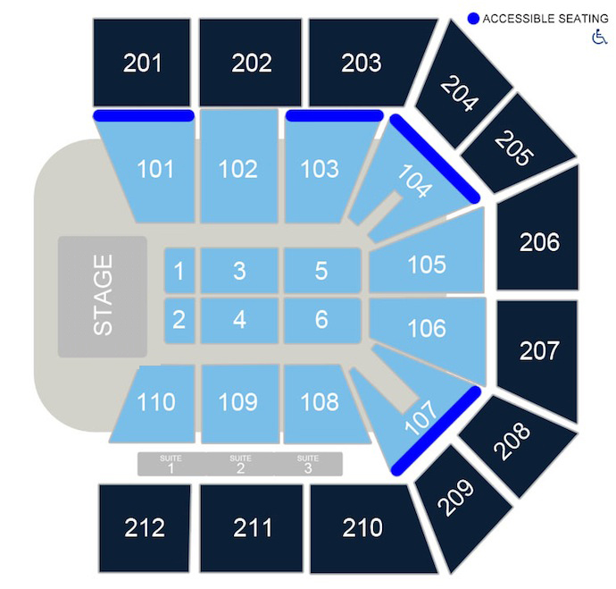 Seating Charts \u2013 College Park Center \u2013 The University of Texas at