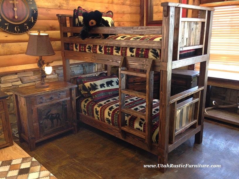 Bradley39s Furniture Etc Rustic Log And Barnwood Bunk Beds