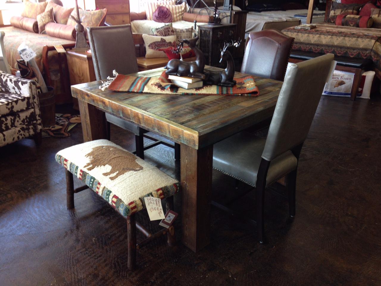 Bradley39s Furniture Etc Utah Rustic Dining Table Sets