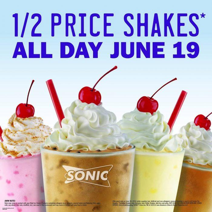 Fullsize Of Sonic Half Price Shakes