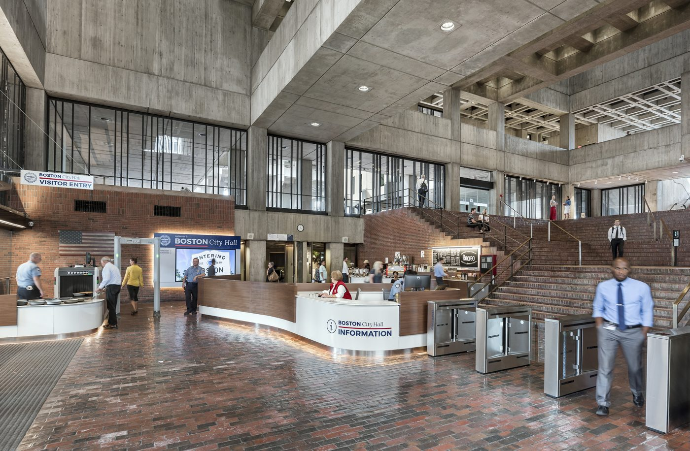 Boston City Hall Lobby Renovation Utile Architecture