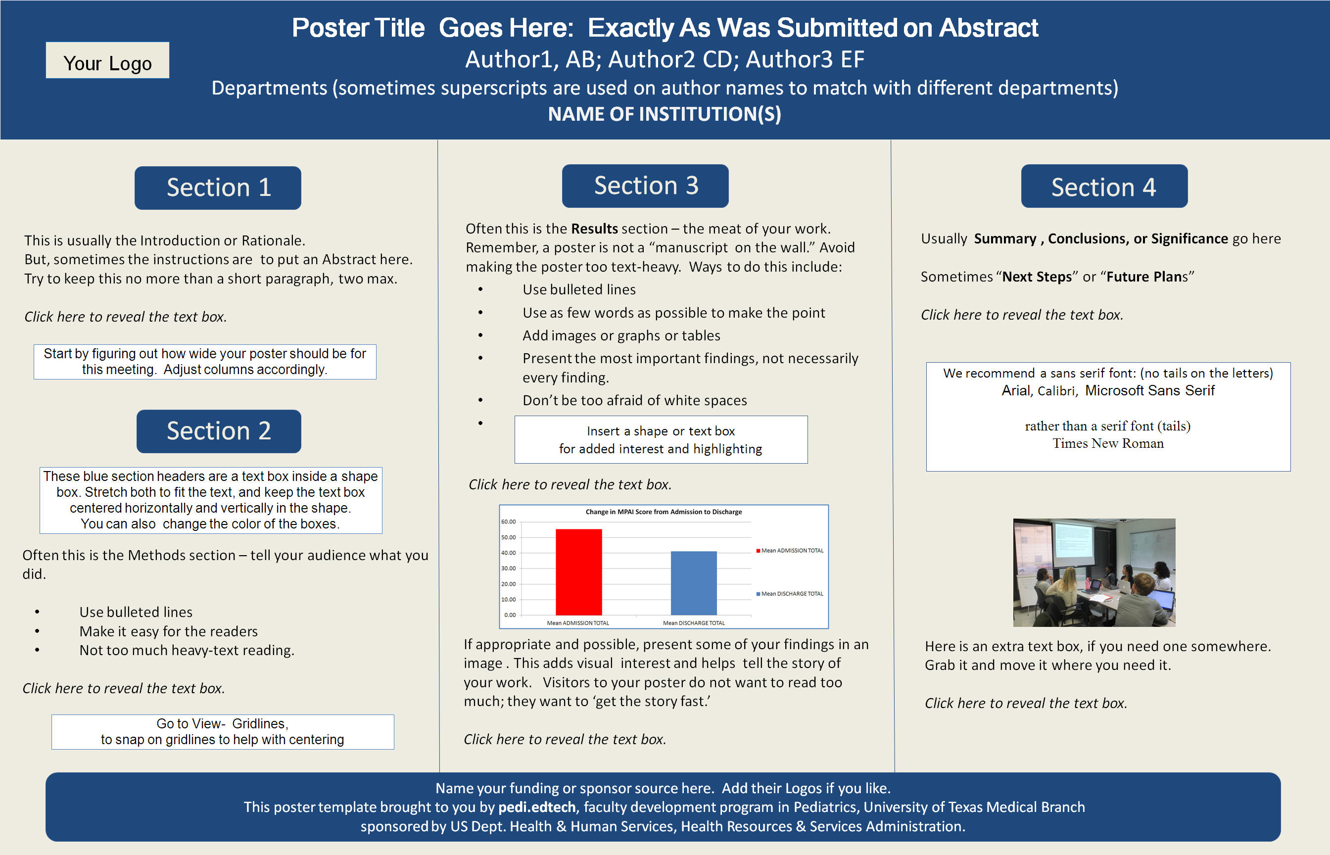 Step 2 use powerpoint you can create a poster using one powerpoint slide with added textboxes shapes and images