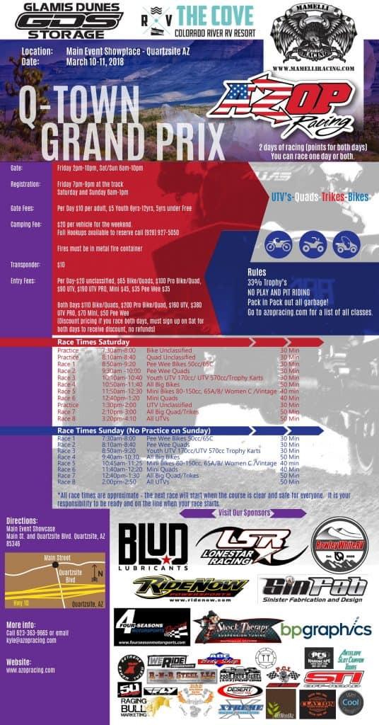 AZOP Q-Town Grand Prix - UTV Sports Magazine
