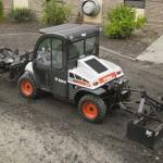 Toolcat 5610 has three-point hitch, PTO and front lift arm for increased utility work machine versatility