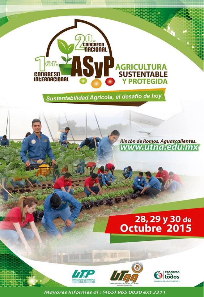 Alumnos en el 1er Congreso Internacional y 2do Nacional de Agricultura Sustentable y Protegida