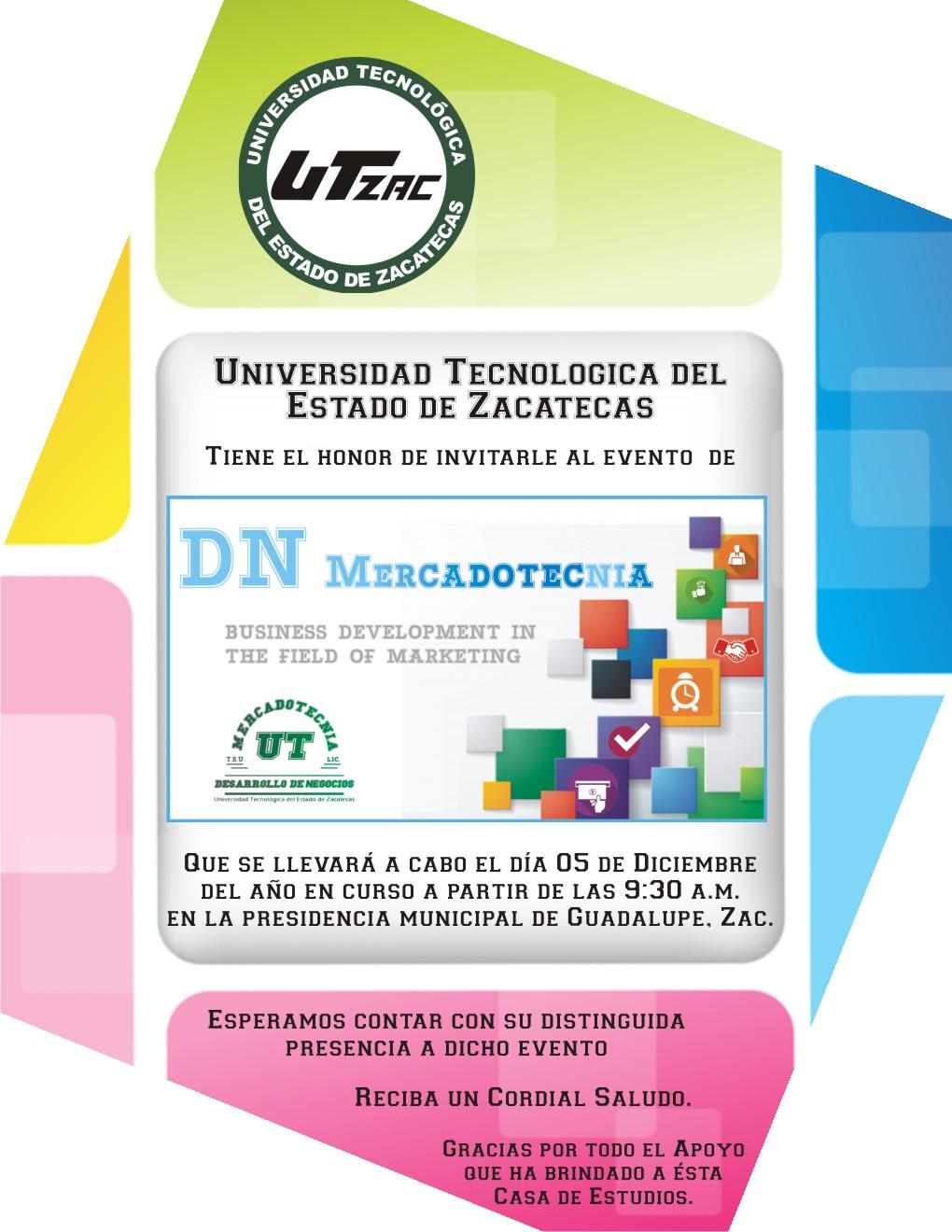 Invitación a la Presentación de Proyectos de DN Mercadotecnia