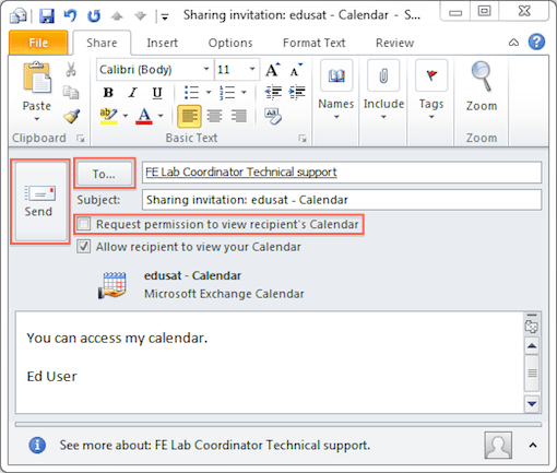 View A Calendar In Outlook 2010 Five Tips For Managing Calendars In Outlook 2010 Share Calendar Outlook 2010 And 2013 University Of Victoria