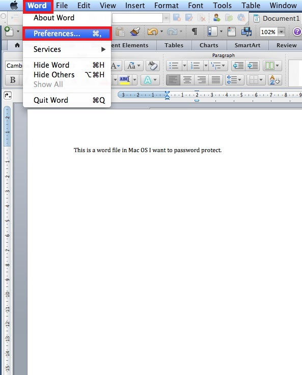 Encrypt Word files using Microsoft Word in Mac OS X - University of