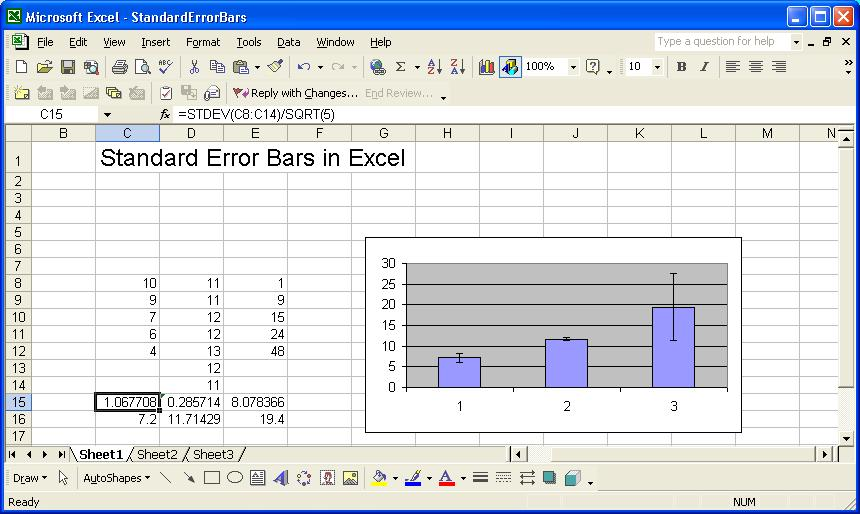Standard Error Bars in Excel - How To Graph Excel
