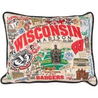 Catstudio Wisconsin Badgers Pillow   University Book Store
