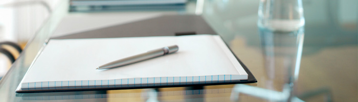 Board of Governors - University Secretariat - Western University - meeting note pad