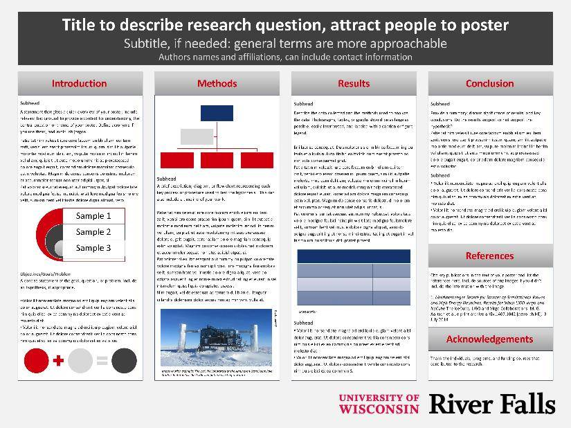 Templates University of Wisconsin River Falls - scientific poster layouts