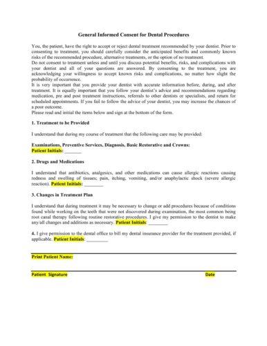 General Consent Form - Uxbridge, MA Dentist Dentist in Uxbridge