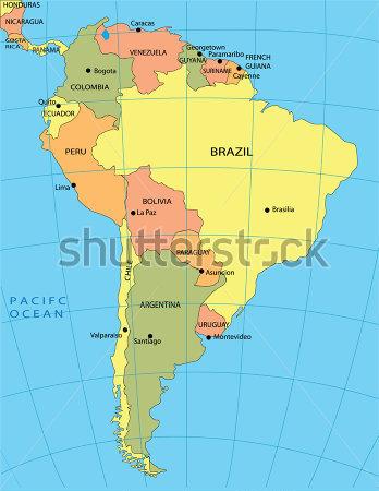 Güney Amerika Haritası - gauranialmightywindinfo