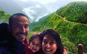 Gezgin aile Bolivya'da