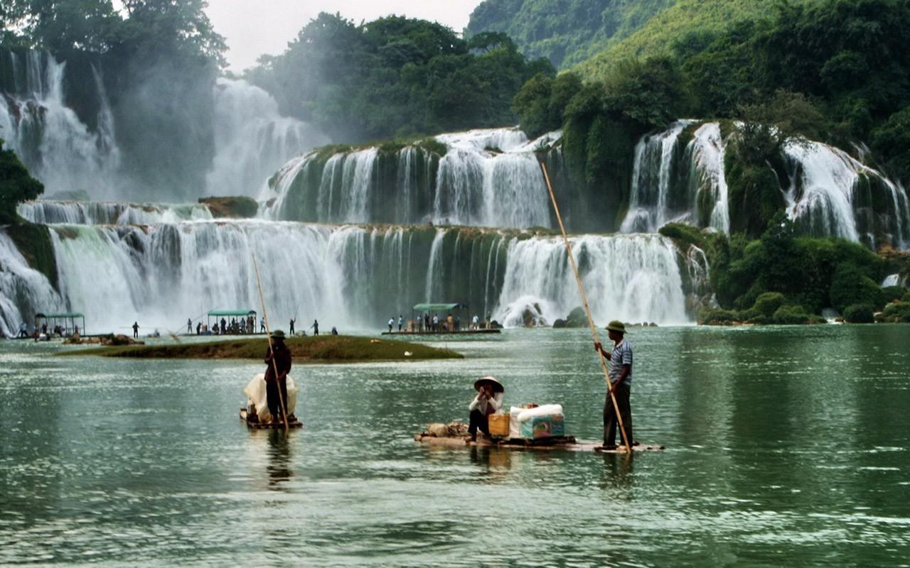 Blue Nile Falls Wallpaper Detian Falls Minghu Metasequoia Works 4 1280x800