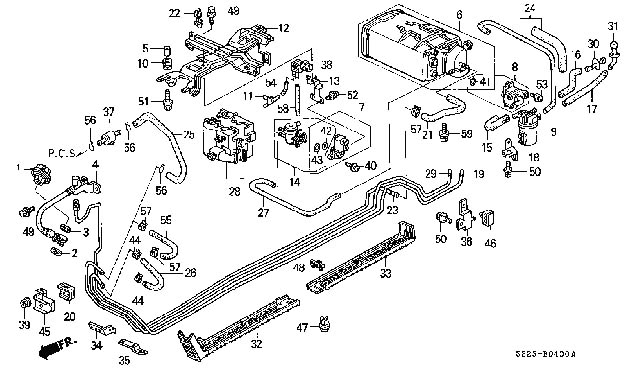 Honda Accord Fuel System Diagram Ford Mustang Fuel Tanks Honda