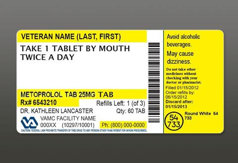 A New and Improved VA Prescription Label - Veterans Health