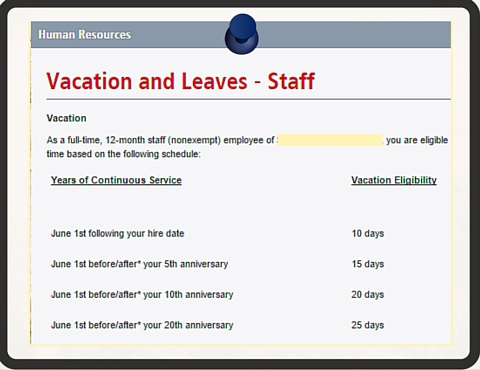 New Hire Paid Vacation Days Top 10 Questions to Ask HR - VacationCounts - holiday closure sign template