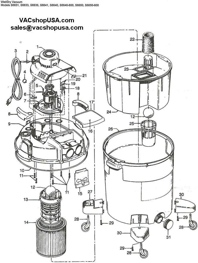 shop vac wiring schematic