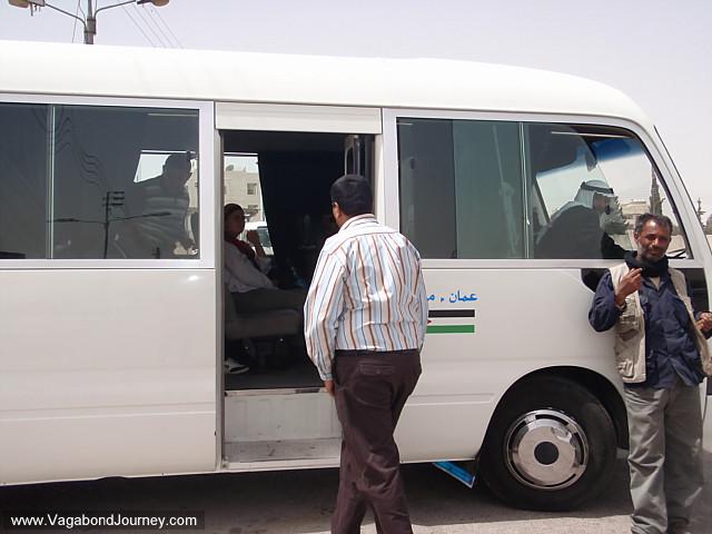 passengers waiting in the taxi in jordan
