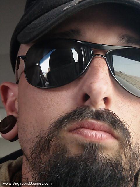 wade in his new aviator sunglasses