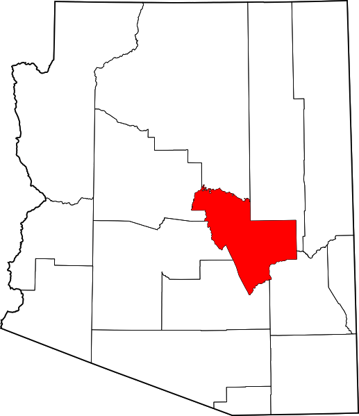 Gila County, Arizona, where the archaeology survey is centered