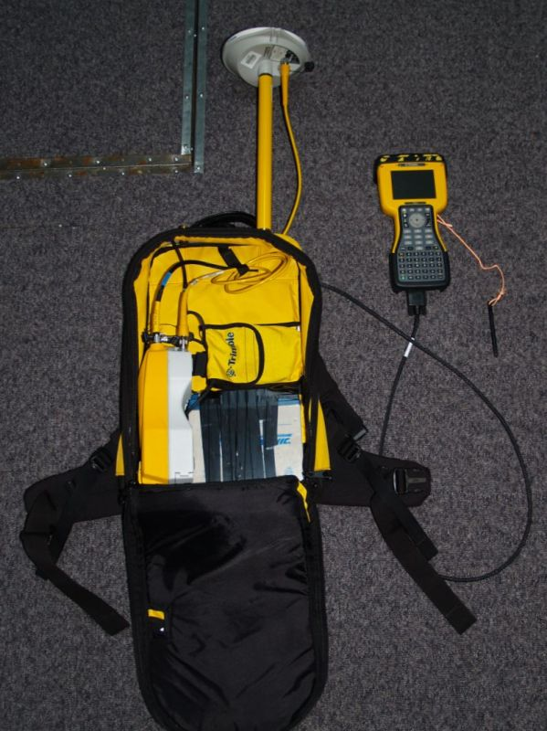 Backpack trimble GPS unit