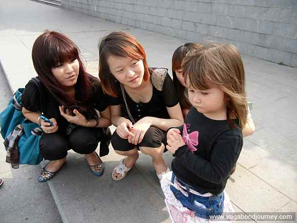 Chinese girls and expat kid