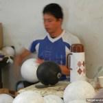 Colombian Man Making Soccer Balls