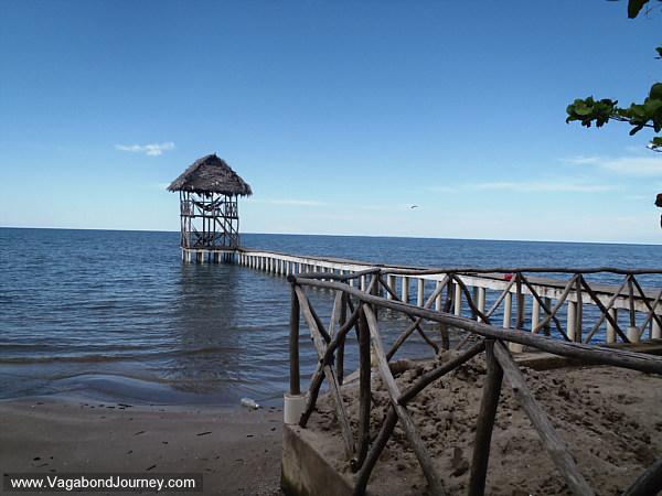 hammock house over Caribbean Sea