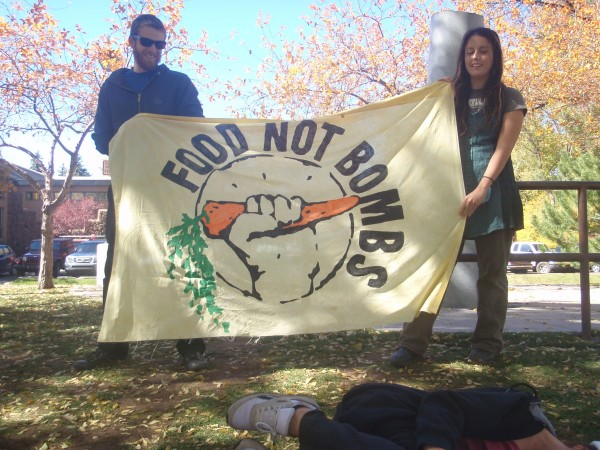 Food Not Bombs banner