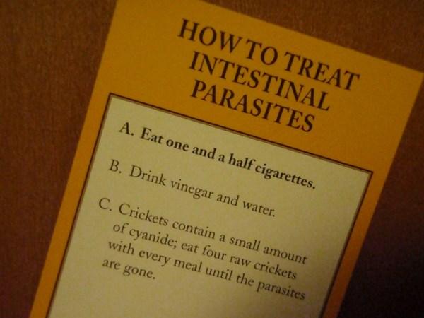 How to treat parasites