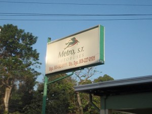 Metrobus station in Santiago Dominican Republic