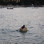 Dinghy boat in Mexico made from beer cooler