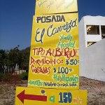 Sign for Posada El Carrizo