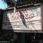 Sign at the front gate of the Posada Carrizo