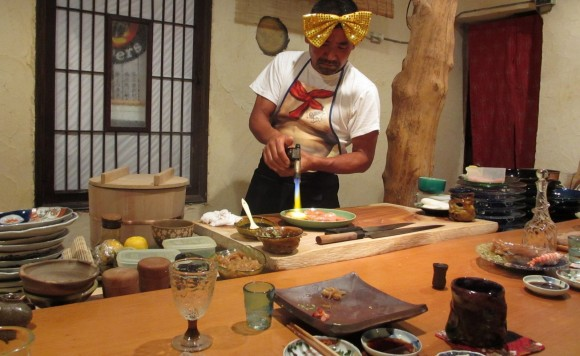 Sushi chef in Japan