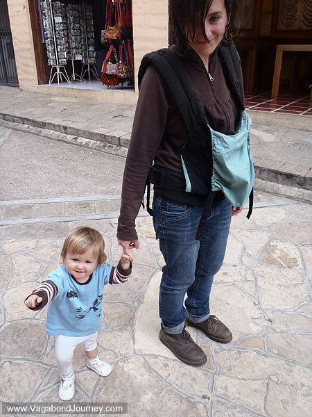 traveling baby and mom