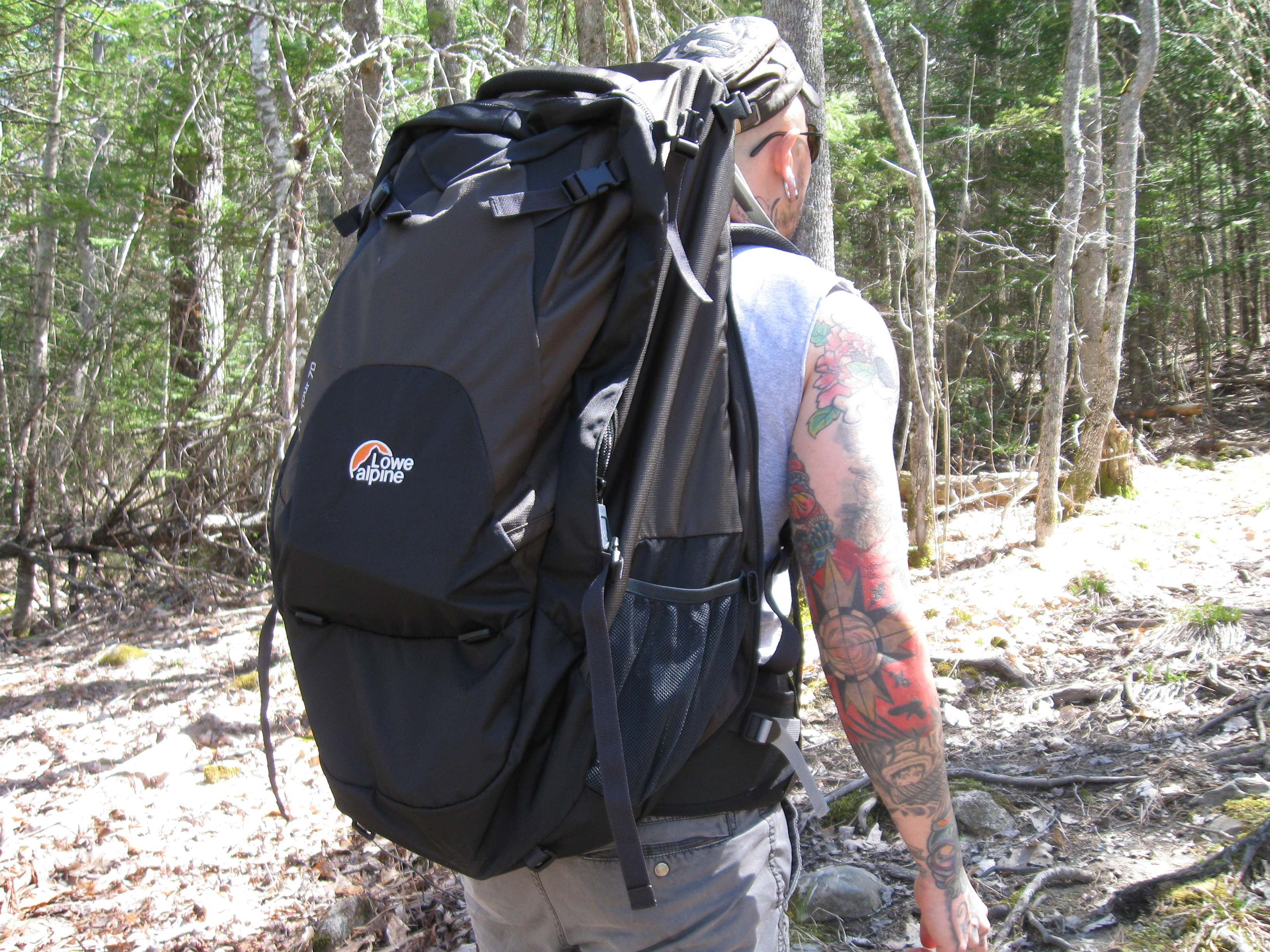TT tour backpack in action